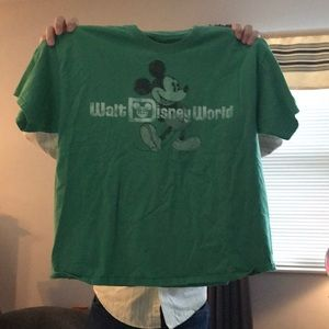 Green Walt Disney World Mickey Tee
